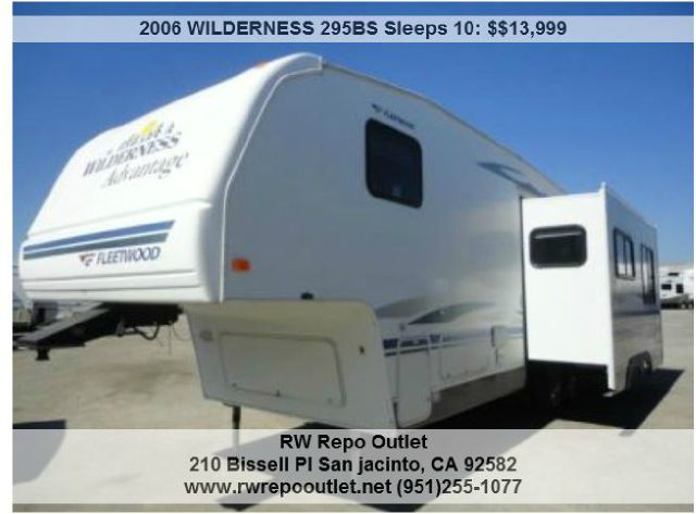 2006 WILDERNESS 295BS Sleeps 10