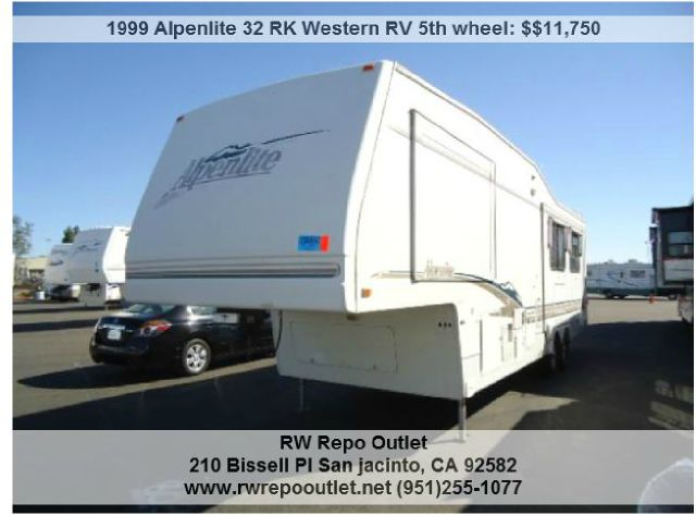 1999 Alpenlite 32 RK Western RV 5th wheel