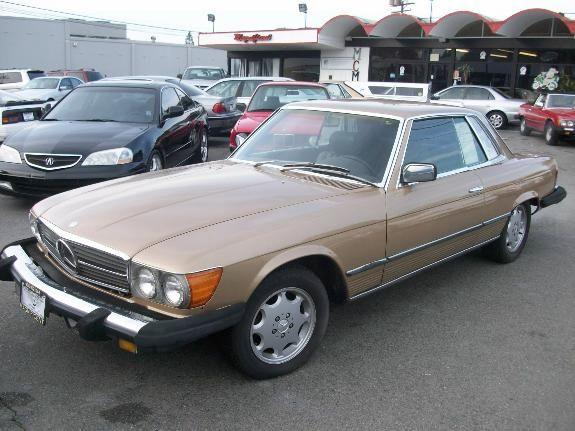 1980 MERCEDES-BENZ SL-CLASS 450 SLC gold 238000 miles VIN 11111111111111111 