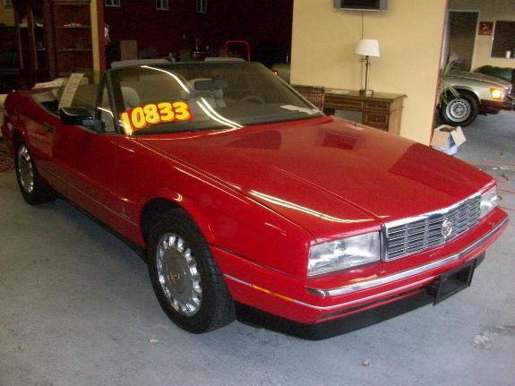 1991 CADILLAC ALLANTE red 97000 miles VIN 1G6VS3384MV126088