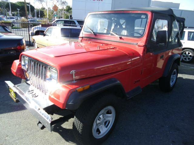 1989 JEEP WRANGLER SOFT TOP red 4wdawdanti-brake system non-absbody style sport utility 2-dr
