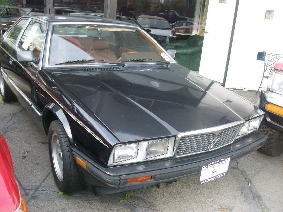 1985 MASERATI BITURBO black 82247 miles VIN ZAMAL1102F3311504 