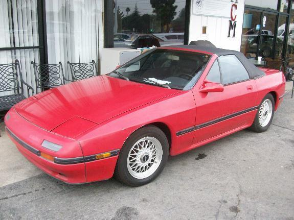 1988 MAZDA RX-7 BASE red 119319 miles VIN JM1FC3514J0104755 