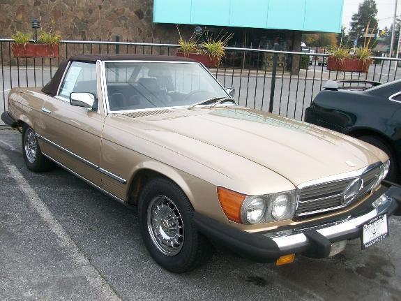 1984 MERCEDES-BENZ 380 380SEL gold 93050 miles VIN WDBBA45A3EA011783 