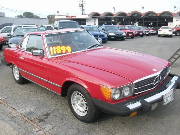 1982 MERCEDES-BENZ 380 380SL red 124569 miles VIN WDBBA45A4CB018314 