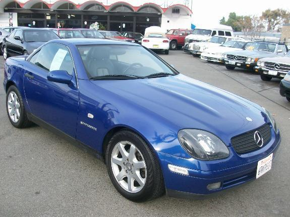 2000 MERCEDES-BENZ SLK-CLASS SLK230 blue 78781 miles VIN WDBKK47F9YF160745 