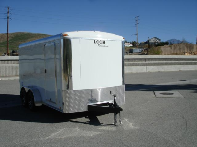 2013 LOOK TRAILERS 7X14 CARGO TRAILER W/RAMP DOOR/ SIDE DOOR - REDLANDS, CA