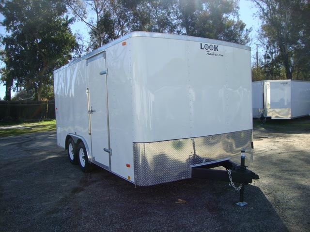 2014 LOOK TRAILER 8.5X16 ENTRY LEVEL ENCLOSED CAR HAULER FOR SALE - REDLAND