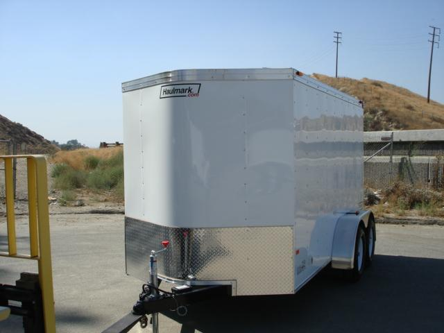 2013 HAULMARK TRAILER 12ft V-NOSE CARGO TRAILER FOR SALE - REDLANDS, CA