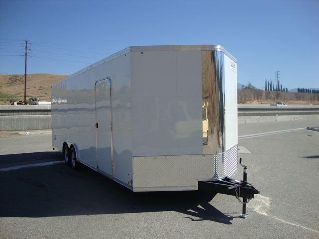 2013 LOOK TRAILERS VWLA85X24TE3 VISION WEDGE NOSE TOY HAULER TRAILER - REDL
