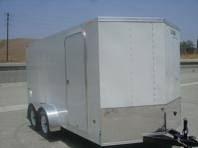 2013 LOOK TRAILER 7x14 V-Nose CONTRACTOR TRAILER FOR SALE - REDLANDS, CA