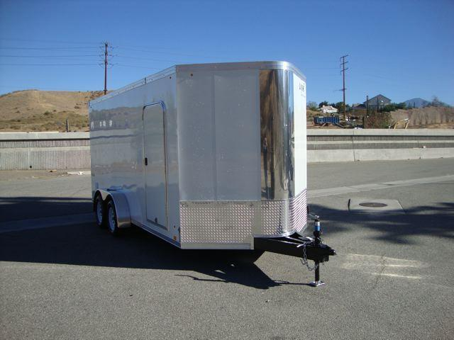 2013 LOOK TRAILERS VISION 7X16 WEDGE NOSE UTV TRAILER - REDLANDS, CA