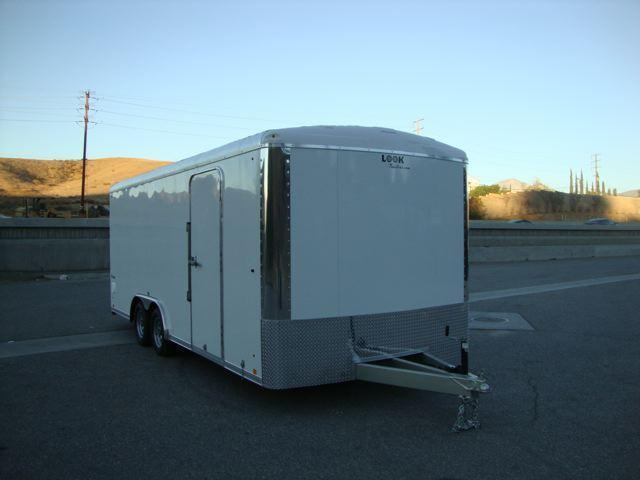 2013 LOOK TRAILERS LOOK VISION VRLA85X20TE2 ROUND TOP CAR TRAILER - REDLAND