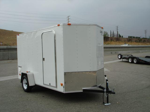 2013 LOOK TRAILER ELEMENT 6X12 V-NOSE CARGO TRAILER FOR SALE - REDLANDS, CA