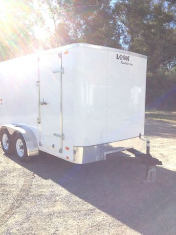 2014 LOOK TRAILERS BRAND NEW 7X12 TANDEM AXLE CARGO TRAILER - REDLANDS, CA