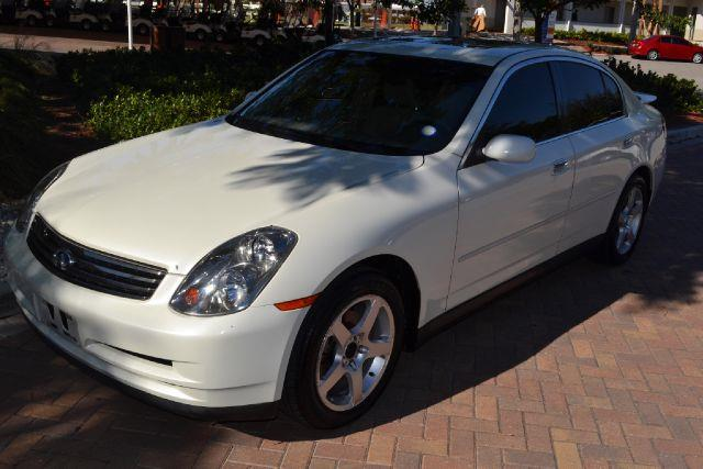 2003 INFINITI G35 SPORT SEDAN WITH LEATHER white we have financing available for all yours financi