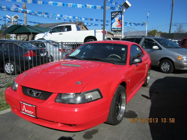 2000 FORD MUSTANG COUPE red air conditioningalloy wheelsamfm radioanti-brake system non-abs